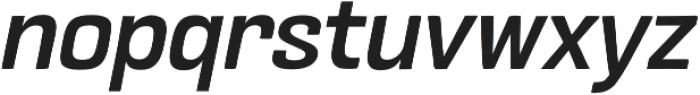 Crude Bold Slanted otf (700) Font LOWERCASE