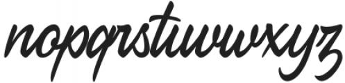 CrushTease-Regular otf (400) Font LOWERCASE