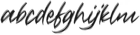 Crushed otf (400) Font LOWERCASE