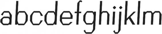 Crypto regular otf (400) Font LOWERCASE
