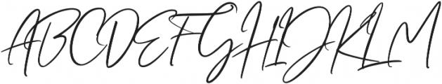 Crystal Vibes Script Regular otf (400) Font UPPERCASE