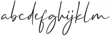 Crystal Vibes Script Regular otf (400) Font LOWERCASE