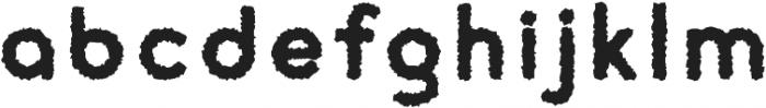 cream Rough otf (400) Font LOWERCASE