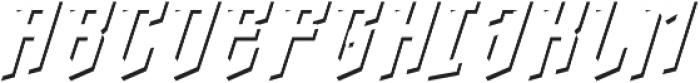 crypton stone shadow otf (400) Font UPPERCASE