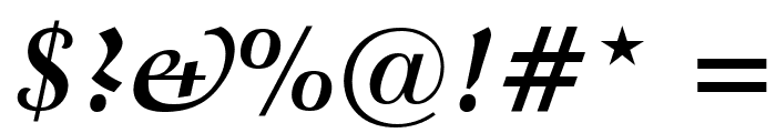 Crystal Bold Italic Font OTHER CHARS
