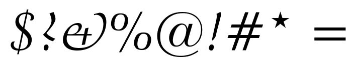 Crystal Italic Font OTHER CHARS