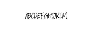 Crackpen.ttf Font UPPERCASE