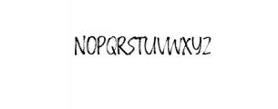Crackpen.ttf Font LOWERCASE