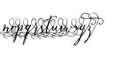 Crafty Script Alt 2 Font LOWERCASE