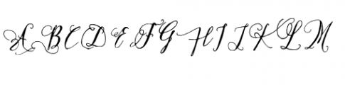Crafty Script Bonus Font UPPERCASE