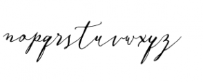Crafty Script Bonus Font LOWERCASE