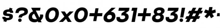 Criteria CF Bold Oblique Font OTHER CHARS