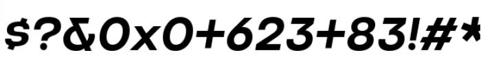 Criteria CF Demi Bold Oblique Font OTHER CHARS