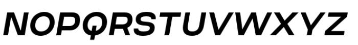 Criteria CF Demi Bold Oblique Font UPPERCASE
