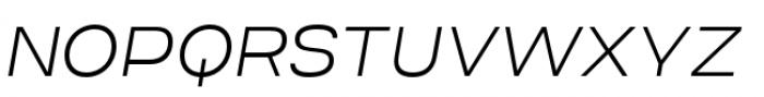 Criteria CF Extra Light Oblique Font UPPERCASE