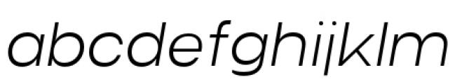 Criteria CF Extra Light Oblique Font LOWERCASE