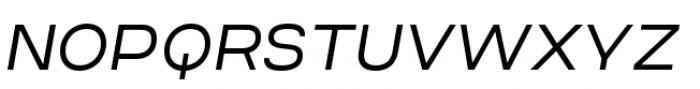 Criteria CF Light Oblique Font UPPERCASE