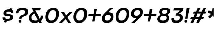 Criteria CF Medium Oblique Font OTHER CHARS