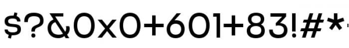 Criteria CF Regular Font OTHER CHARS