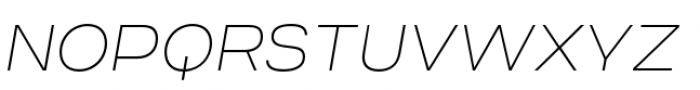 Criteria CF Thin Oblique Font UPPERCASE