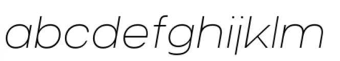 Criteria CF Thin Oblique Font LOWERCASE