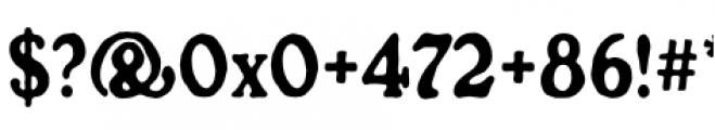Croft Regular Font OTHER CHARS