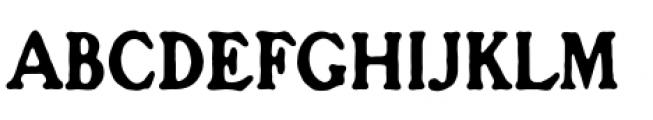 Croft Regular Font UPPERCASE