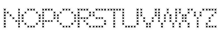 CROSS STITCH Font UPPERCASE