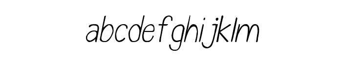 CRU-Chaipot-handwritten-ltalic Font LOWERCASE