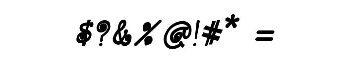 CRU-Kanda-Hand-Written-Bold-Italic Font OTHER CHARS