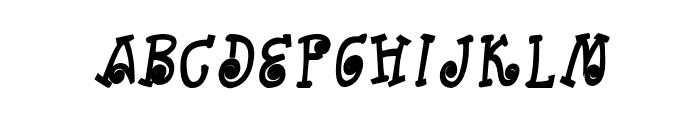 CRU-Kanda-Hand-Written-Bold-Italic Font UPPERCASE