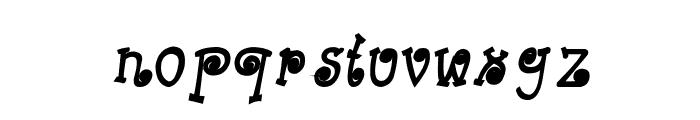 CRU-Kanda-Hand-Written-Bold-Italic Font LOWERCASE