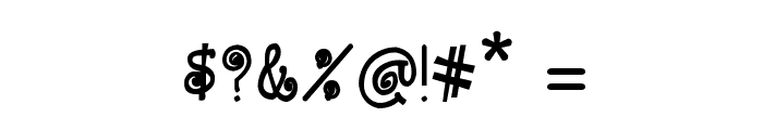CRU-Kanda-Hand-Written-Bold Font OTHER CHARS