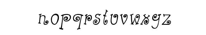 CRU-Kanda-Hand-Written-Italic Font LOWERCASE