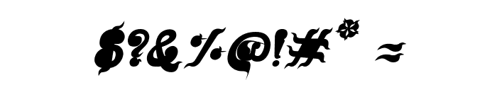 CRU-Nonthawat-Bold Italic Font OTHER CHARS