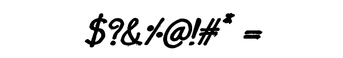 CRU-Nonthawat-Hand-Written Bold-Italic Font OTHER CHARS