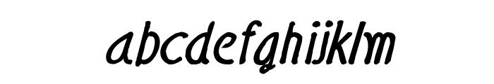 CRU-Nonthawat-Hand-Written Bold-Italic Font LOWERCASE