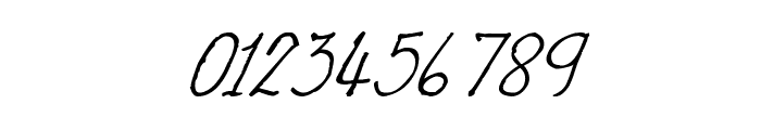 CRU-Nonthawat-Hand-Written Italic Font OTHER CHARS