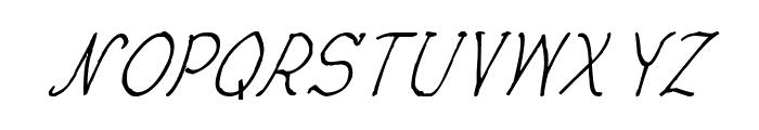 CRU-Nonthawat-Hand-Written Italic Font UPPERCASE