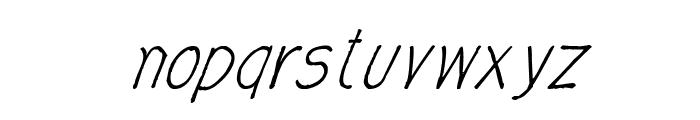 CRU-Nonthawat-Hand-Written Italic Font LOWERCASE
