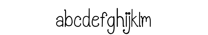 CRU-Pantgarn-written Font LOWERCASE