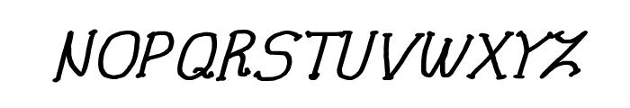 CRU-Pharit-Hand-Written v2 Bold Italic Font UPPERCASE