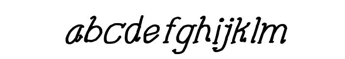 CRU-Pharit-Hand-Written v2 Bold Italic Font LOWERCASE