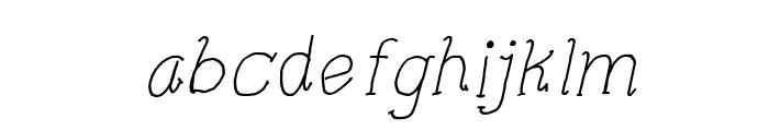 CRU-Pharit-Hand-Written v2 Italic Font LOWERCASE