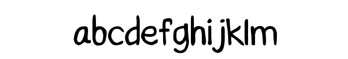 CRU-Saowalak-Hand-Written-Bold Font LOWERCASE