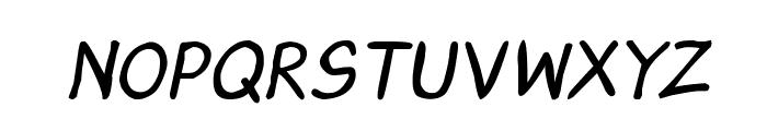 CRU-Saowalak-Hand-Written-Italic-Bold Font UPPERCASE