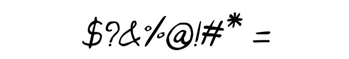 CRU-Saowalak-Hand-Written-Italic Font OTHER CHARS