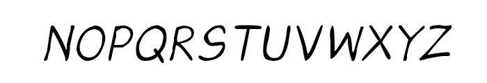CRU-Saowalak-Hand-Written-Italic Font UPPERCASE
