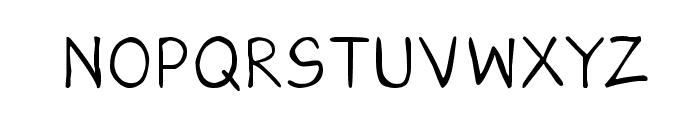 CRU-Saowalak-Hand-Written Font UPPERCASE