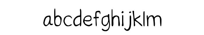 CRU-Saowalak-Hand-Written Font LOWERCASE